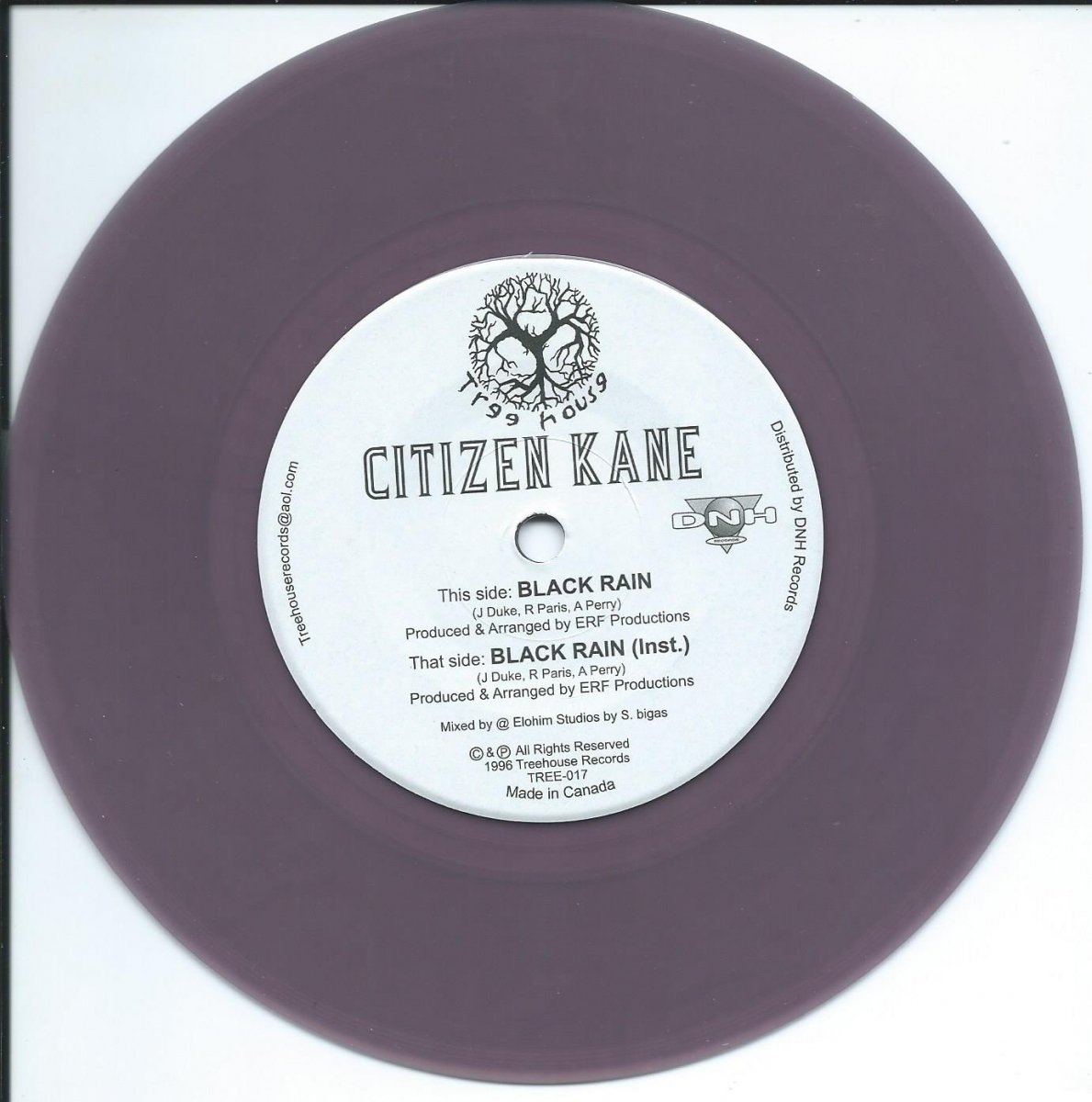 <img class='new_mark_img1' src='https://img.shop-pro.jp/img/new/icons15.gif' style='border:none;display:inline;margin:0px;padding:0px;width:auto;' />CITIZEN KANE / BLACK RAIN - PURPLE VINYL (7