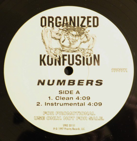 ORGANIZED KONFUSION ‎/ NUMBERS - US PROMO (12