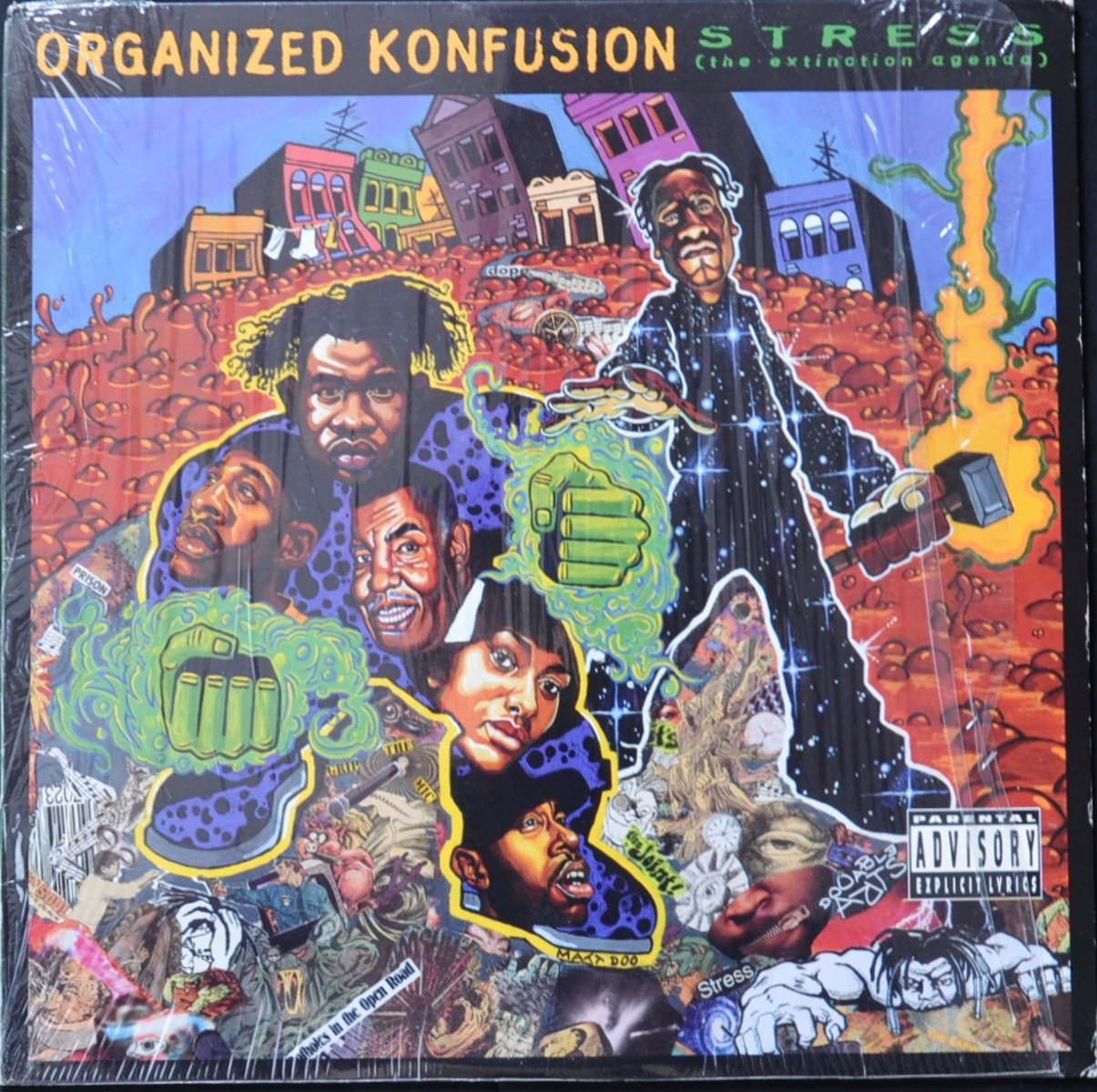 ORGANIZED KONFUSION ‎/ STRESS: THE EXTINCTION AGENDA (1LP)