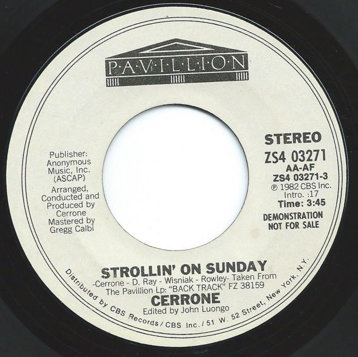 CERRONE / STROLLIN' ON SUNDAY - US PROMO (7