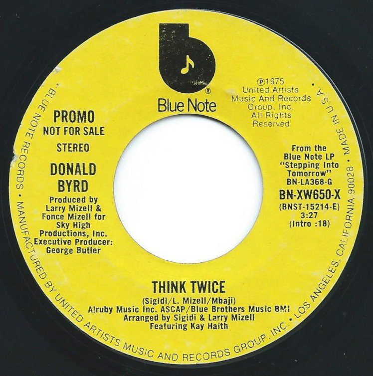 DONALD BYRD ‎/ THINK TWICE / WE'RE TOGETHER (SKY HI PRODUCTION) (7