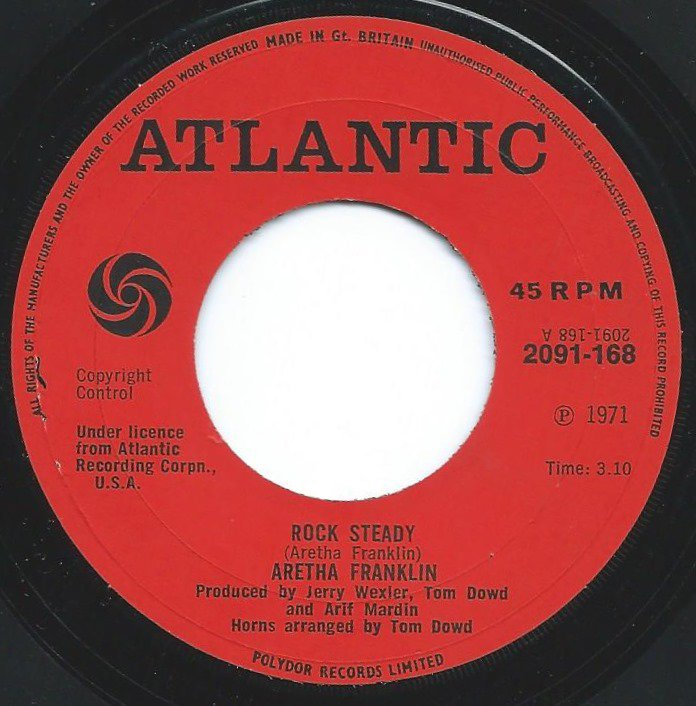 ARETHA FRANKLIN / ROCK STEADY / OH ME OH MY (I'M A FOOL FOR YOU BABY) (7