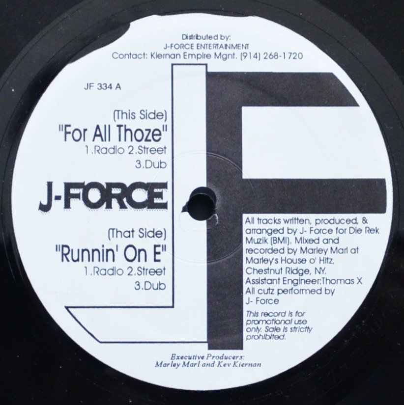 J-FORCE / FOR ALL THOZE / RUNNIN' ON E (12