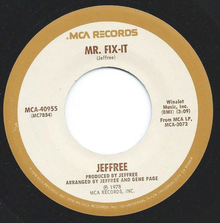 JEFFREE /  MR. FIX-IT / TAKE MY LOVE (7