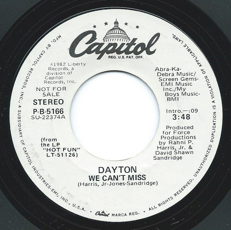 DAYTON / WE CAN'T MISS (7