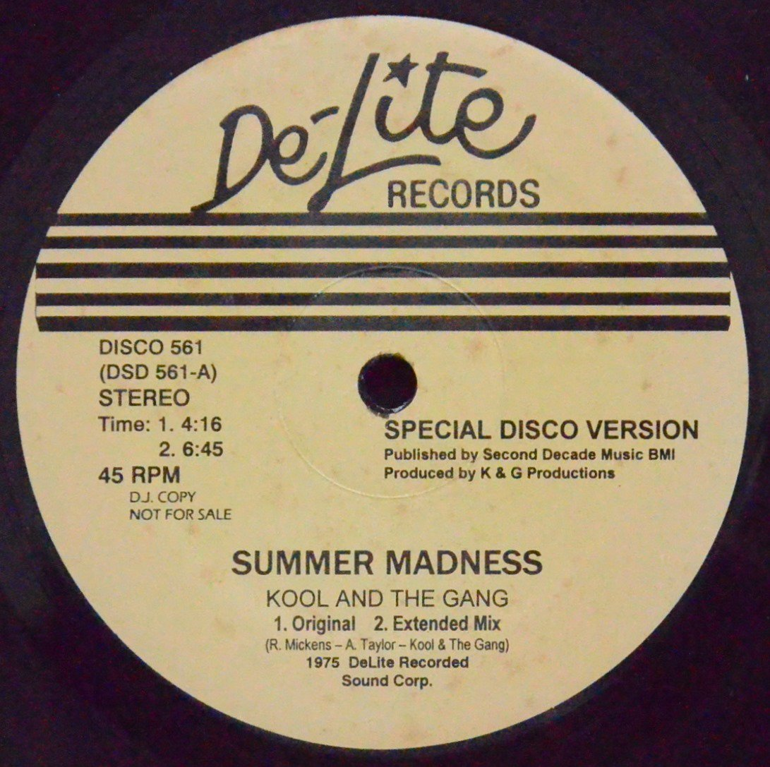 KOOL AND THE GANG / SUMMER MADNESS (12