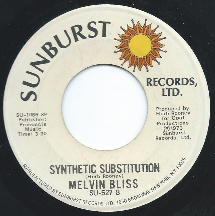 MELVIN BLISS ‎/ SYNTHETIC SUBSTITUTION / REWARD (7