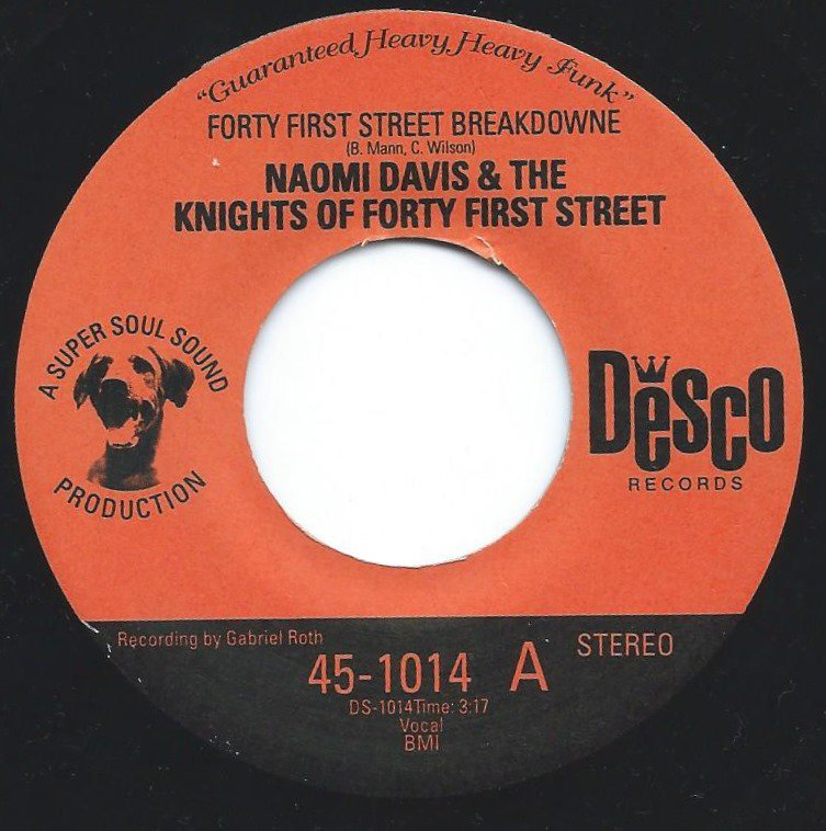 NAOMI DAVIS & THE KNIGHTS OF FORTY FIRST STREET ‎/ FORTY FIRST STREET BREAKDOWNE / CATAPULT (7