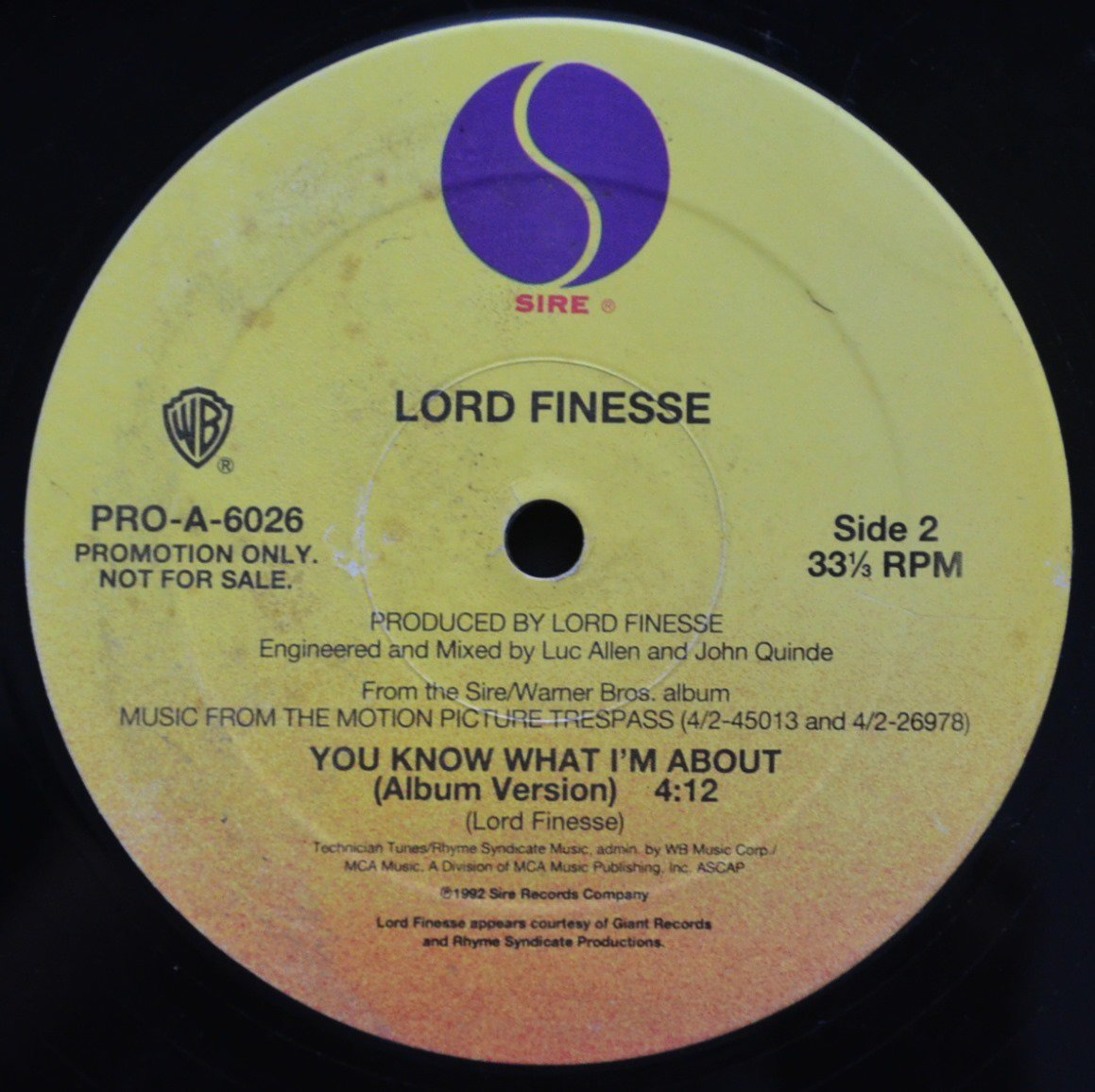LORD FINESSE / AMG /  YOU KNOW WHAT I'M ABOUT / DON'T BE A 304 (12