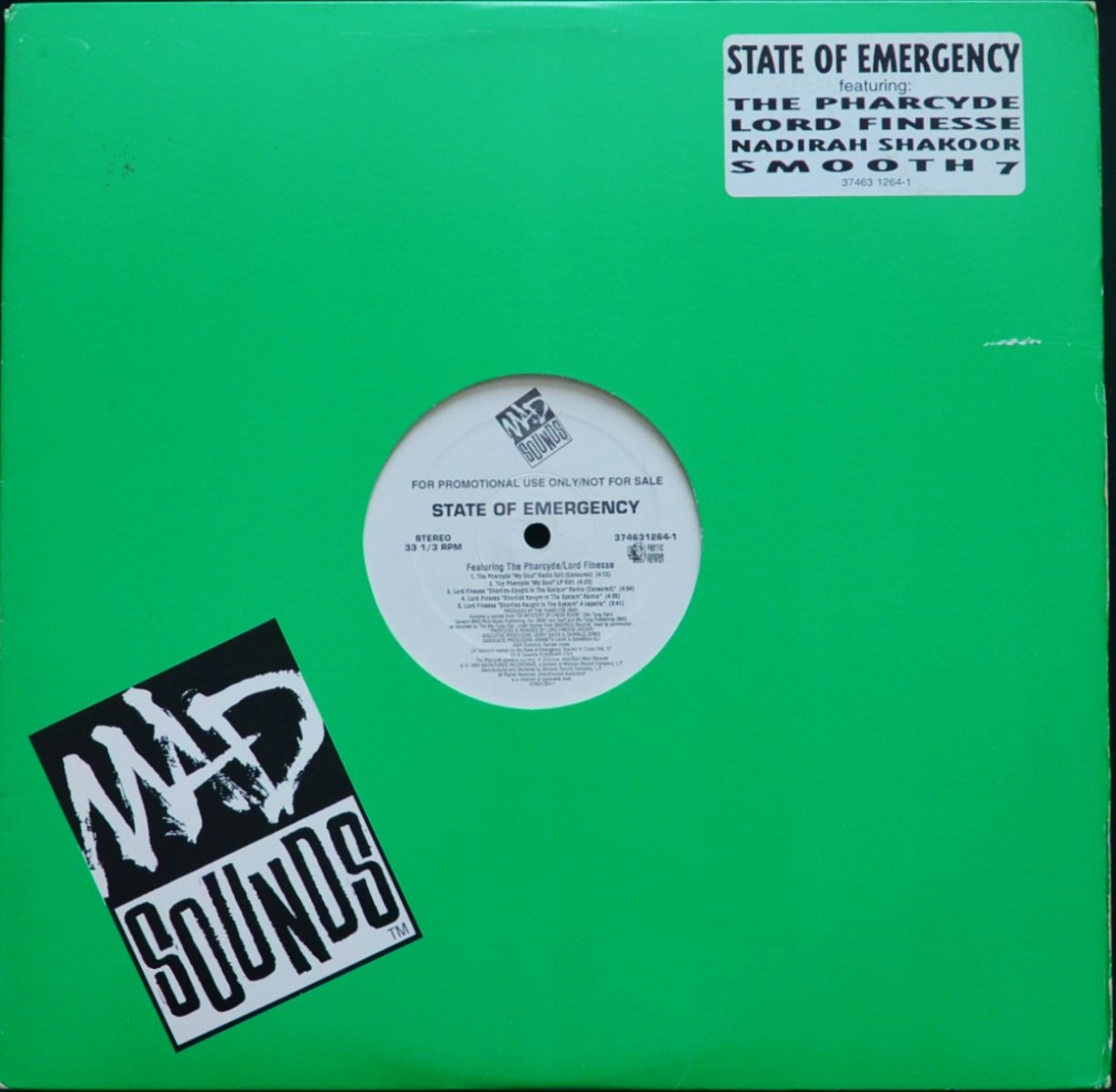 V.A.(LORD FINESSE...) ‎/ SHORTIES KAUGHT IN THE SYSTEM (REMIX) (STATE OF EMERGENCY) (12