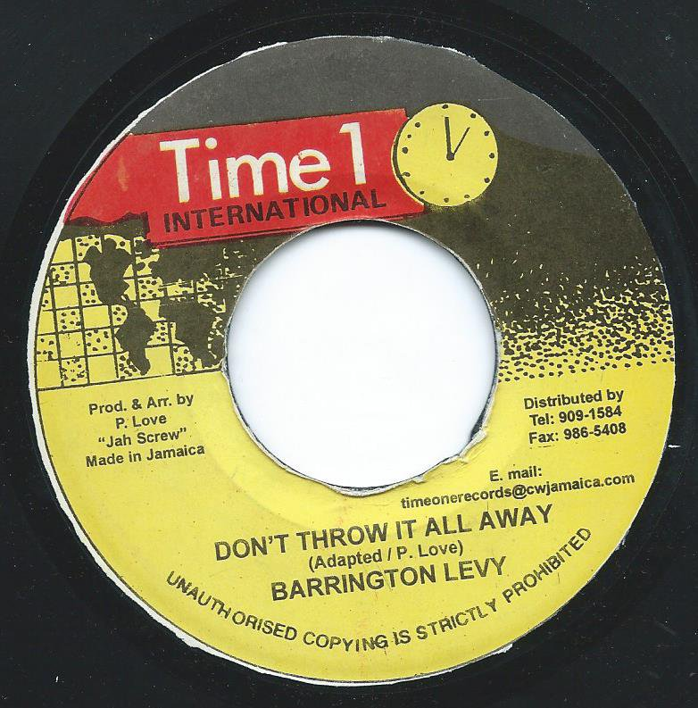 BARRINGTON LEVY ‎/ DON'T THROW IT ALL AWAY (7