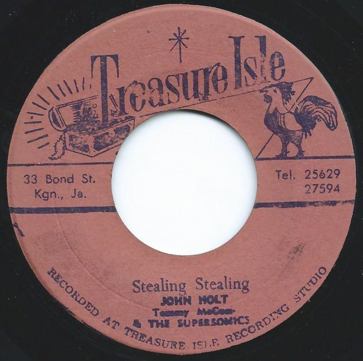 JOHN HOLT WITH TOMMY MCCOOK & THE SUPERSONICS / STEALING STEALING (7