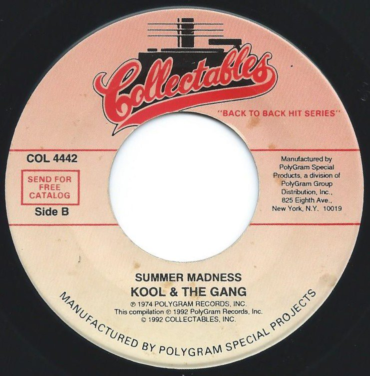 KOOL & THE GANG / SUMMER MADNESS / SPIRIT OF THE BOOGIE (7