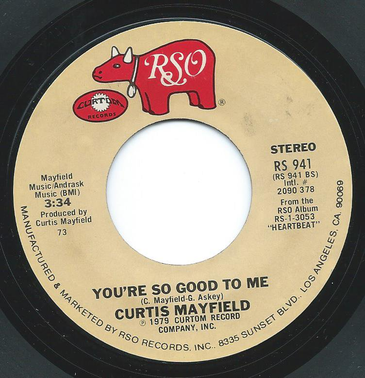 CURTIS MAYFIELD AND LINDA CLIFFORD / BETWEEN YOU BABY AND ME / YOU'RE SO GOOD TO ME (7
