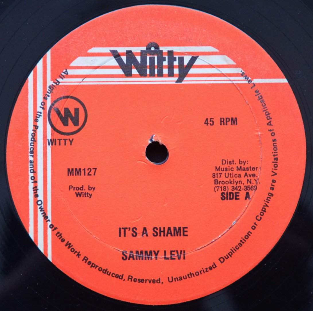SAMMY LEVI / IT'S A SHAME (12