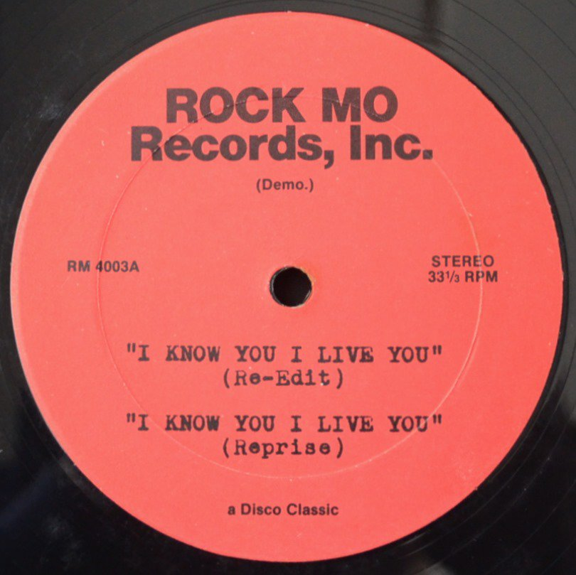 CHAKA KHAN / I KNOW YOU I LIVE YOU (MR. K (DANNY KRIVIT) RE-EDIT) (12