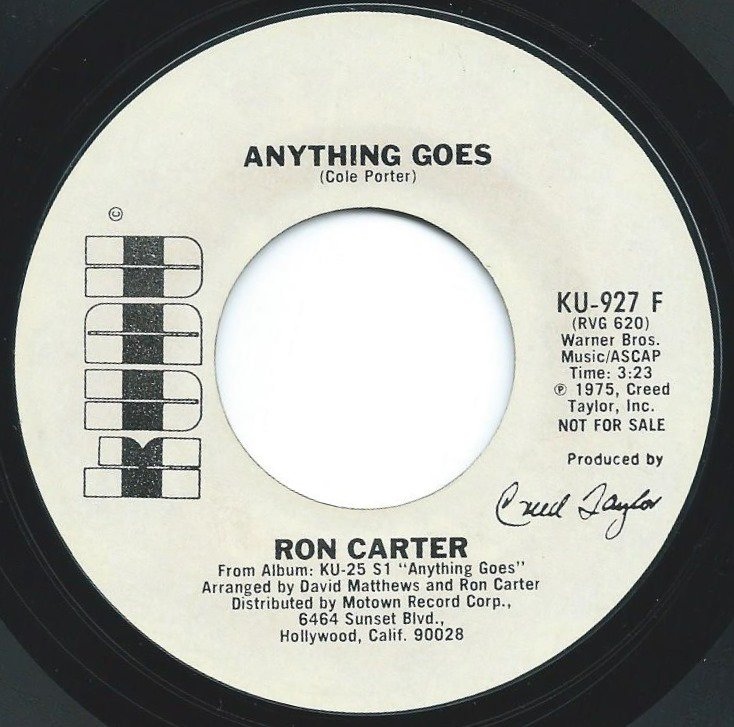 RON CARTER ‎/ ANYTHING GOES (7