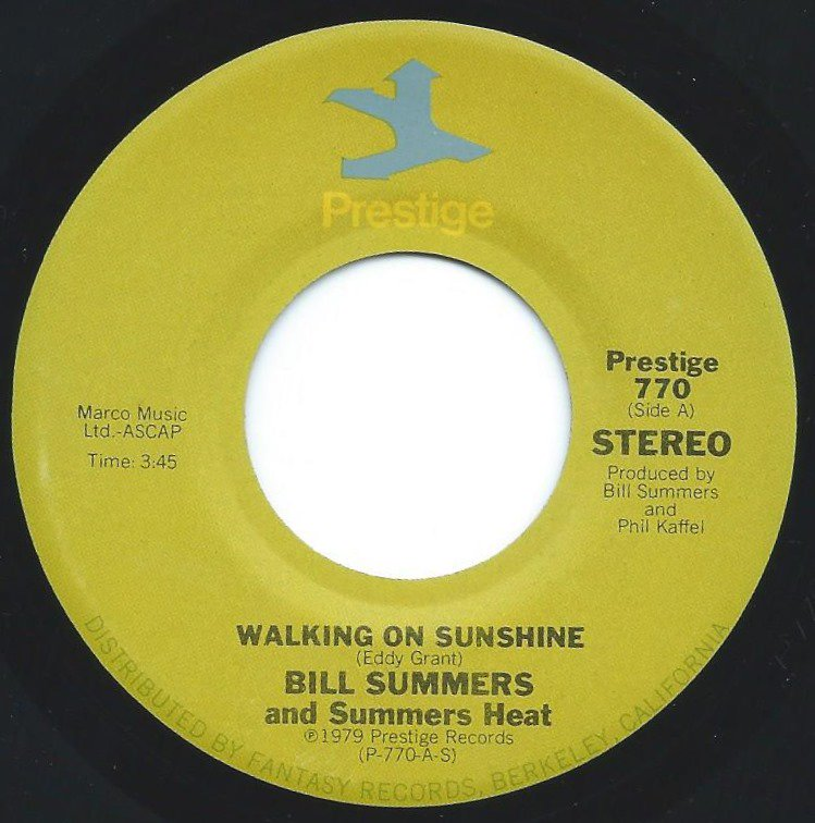 BILL SUMMERS & SUMMERS HEAT / WALKING ON SUNSHINE / LEARN TO LIVE AS ONE (7