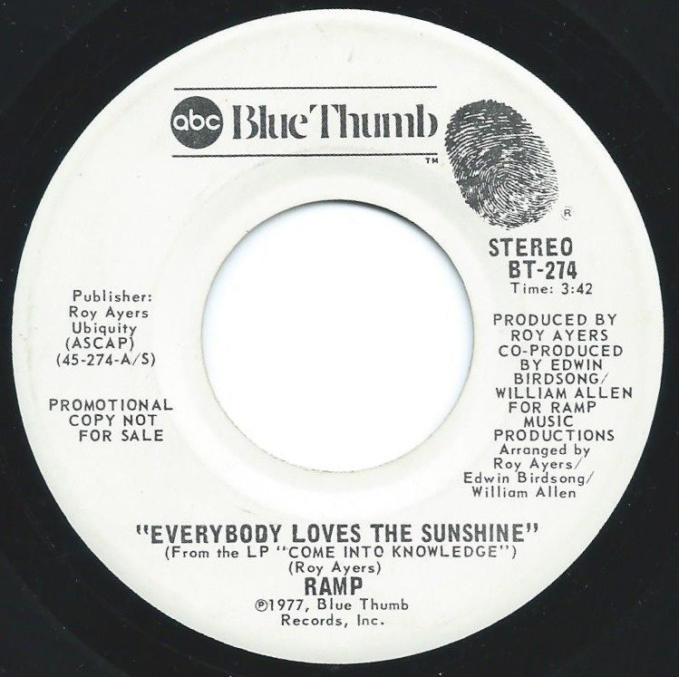 RAMP / EVERYBODY LOVES THE SUNSHINE (7