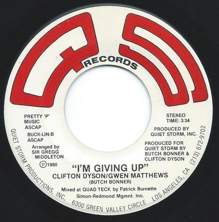 CLIFTON DYSON / GWEN MATTHEWS ‎/ SO LONELY / I'M GIVING UP (7
