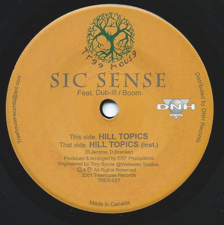 SIC SENSE ‎/ HILL TOPICS (PROD BY ERF PRODUCTIONS) (7