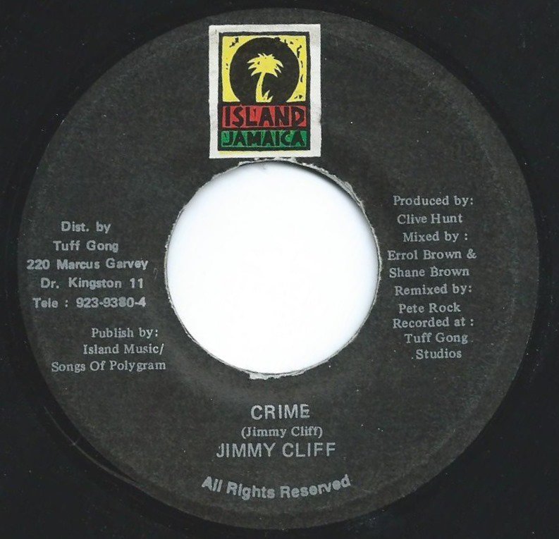 JIMMY CLIFF ‎/ CRIME (7
