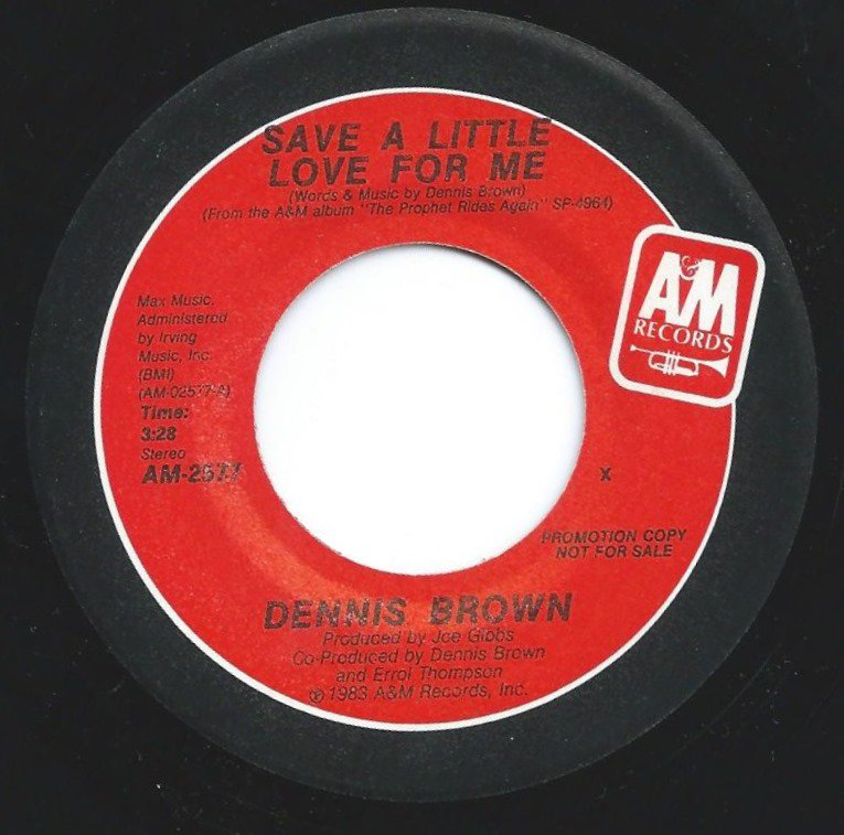 DENNIS BROWN / SAVE A LITTLE LOVE FOR ME (7