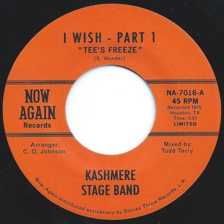KASHMERE STAGE BAND / I WISH (REMIX TODD TERRY) (7