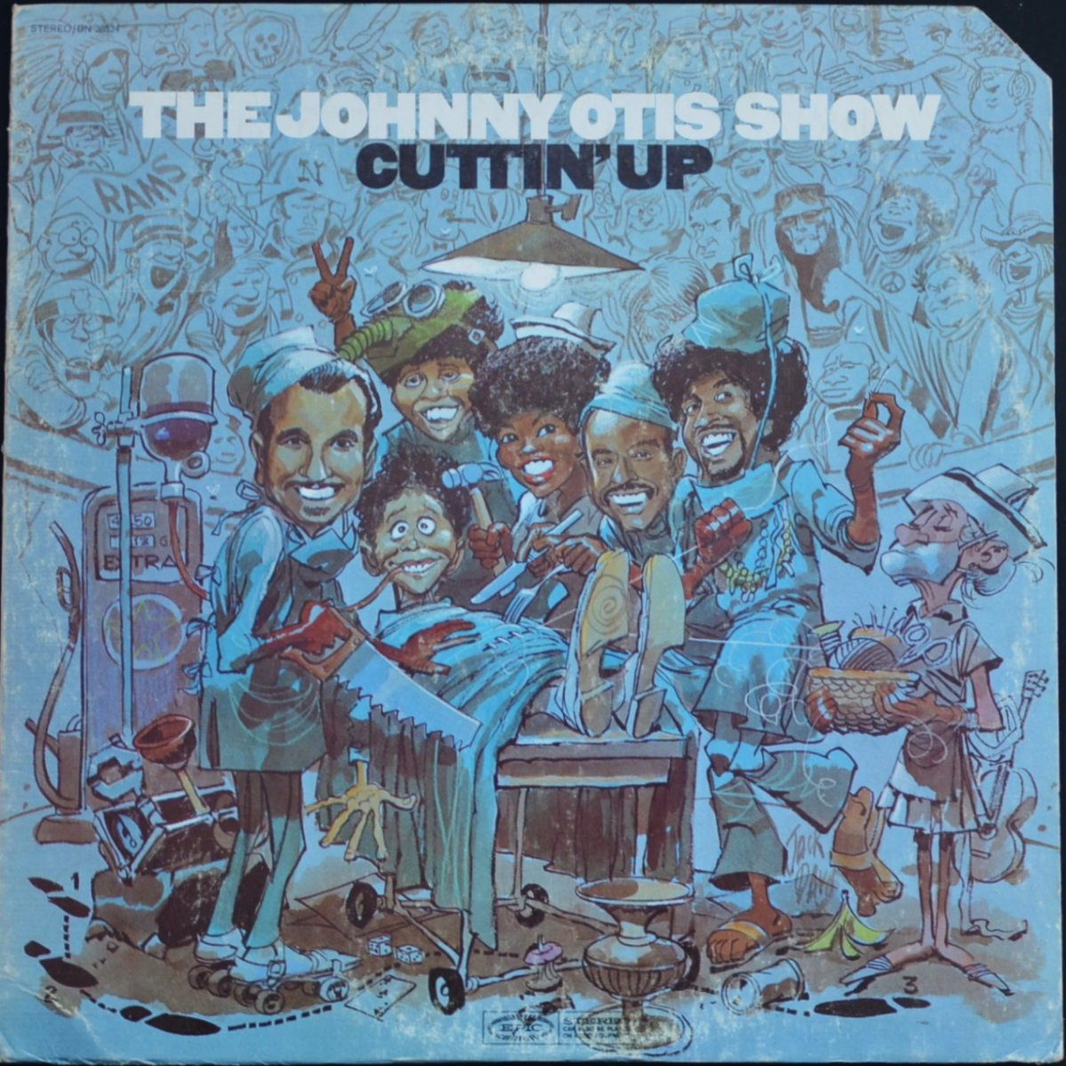 THE JOHNNY OTIS SHOW ‎/ CUTTIN' UP (LP)