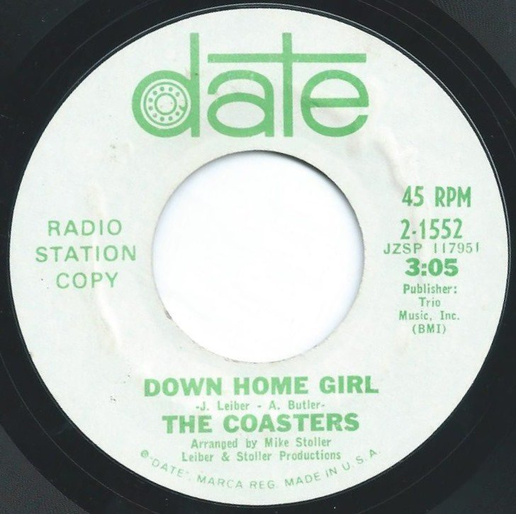 THE COASTERS ‎/ DOWN HOME GIRL (7