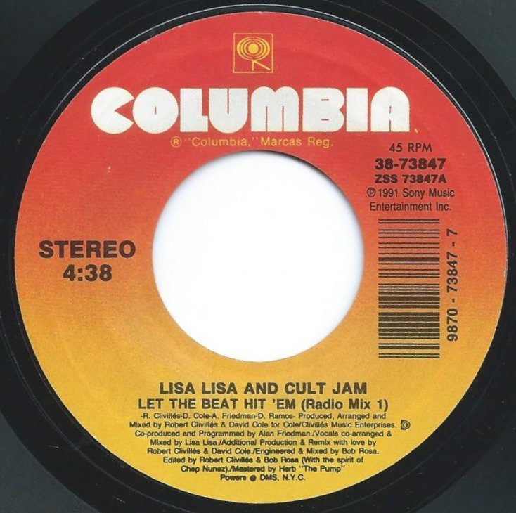 LISA LISA & CULT JAM / LET THE BEAT HIT 'EM (7