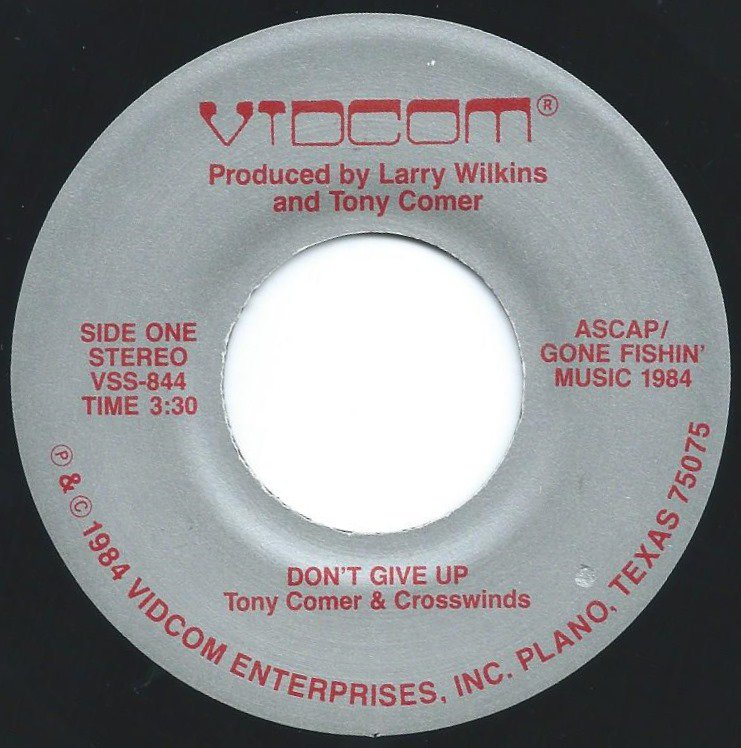 TONY COMER & CROSSWINDS / DON'T GIVE UP (7