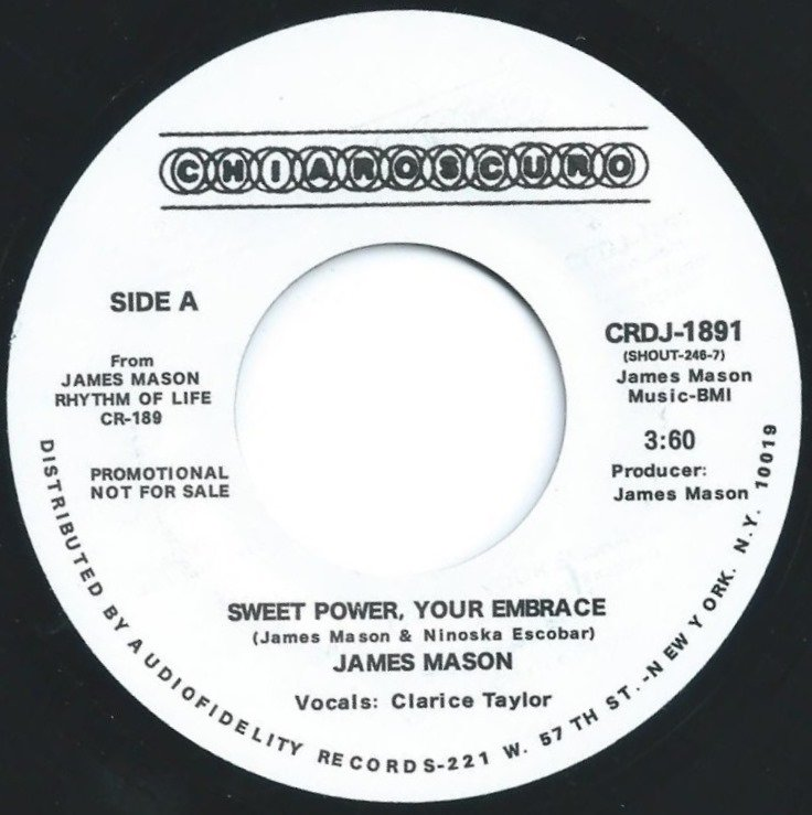 JAMES MASON ‎/ SWEET POWER,YOUR EMBRACE / FREE (7