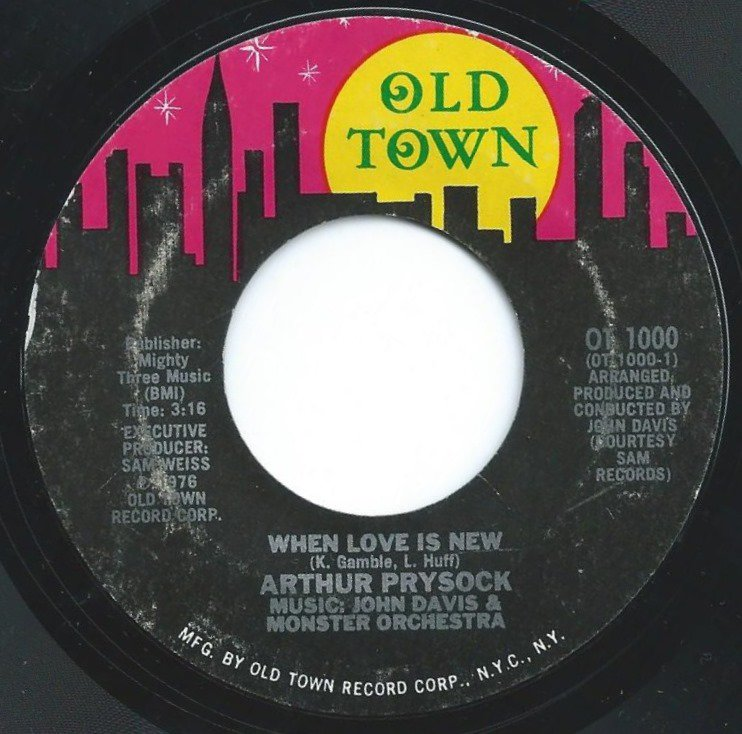 ARTHUR PRYSOCK ‎/ WHEN LOVE IS NEW / ALL I NEED IS YOU TONIGHT (7