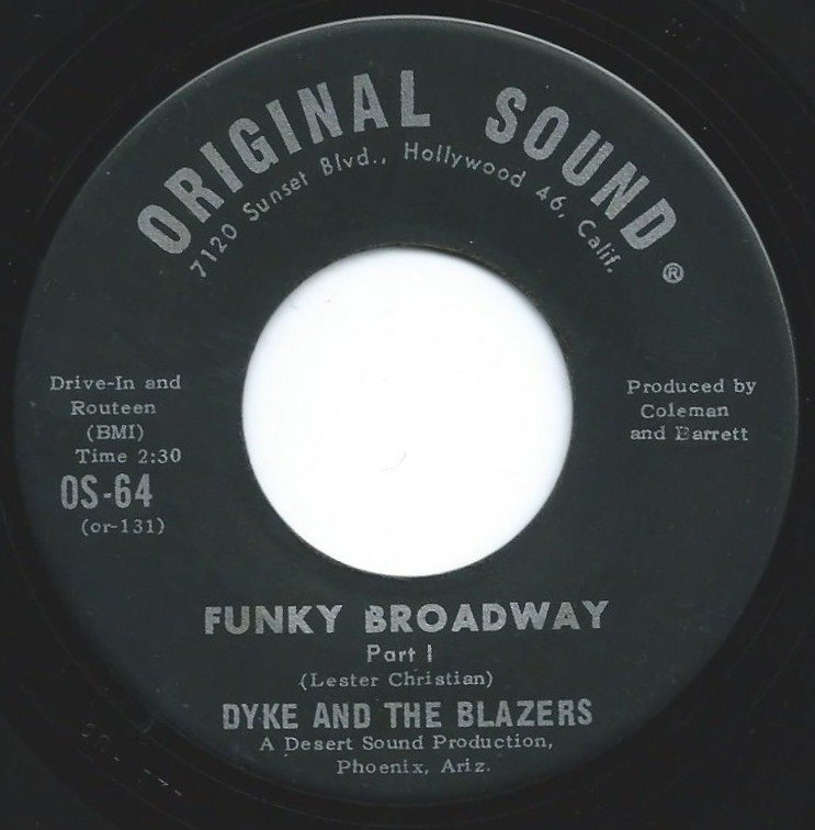 DYKE & THE BLAZERS ‎/ FUNKY BROADWAY (7
