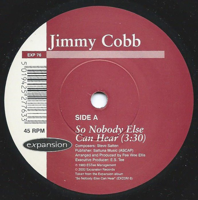 JIMMY COBB / SO NOBODY ELSE CAN HEAR / PISTACHIO (7