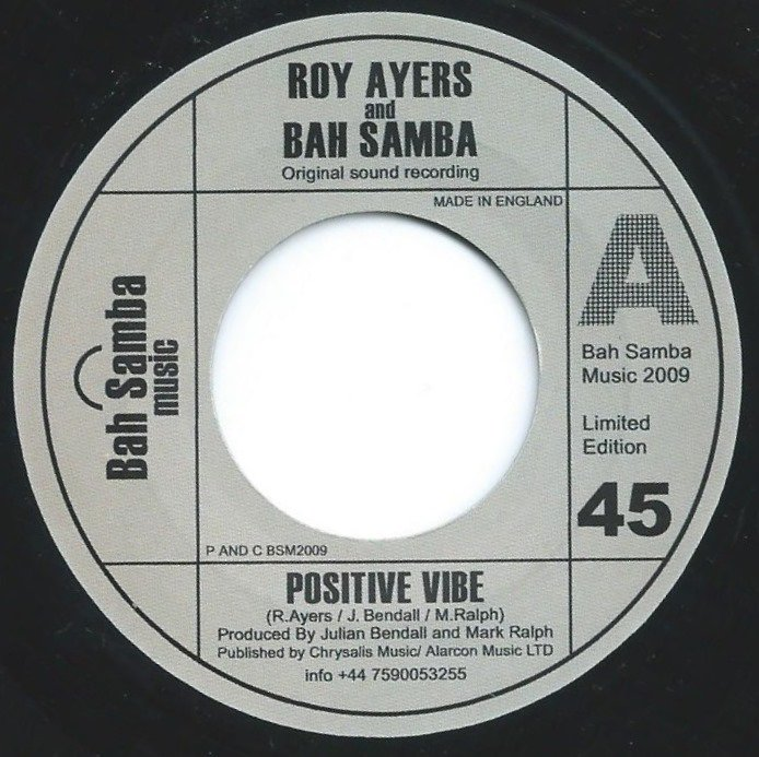 ROY AYERS AND BAH SAMBA ‎/ POSITIVE VIBE (7