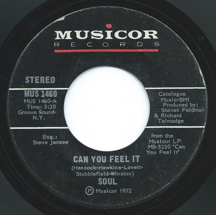 SOUL / CAN YOU FEEL IT / LOVE, PEACE AND POWER (7