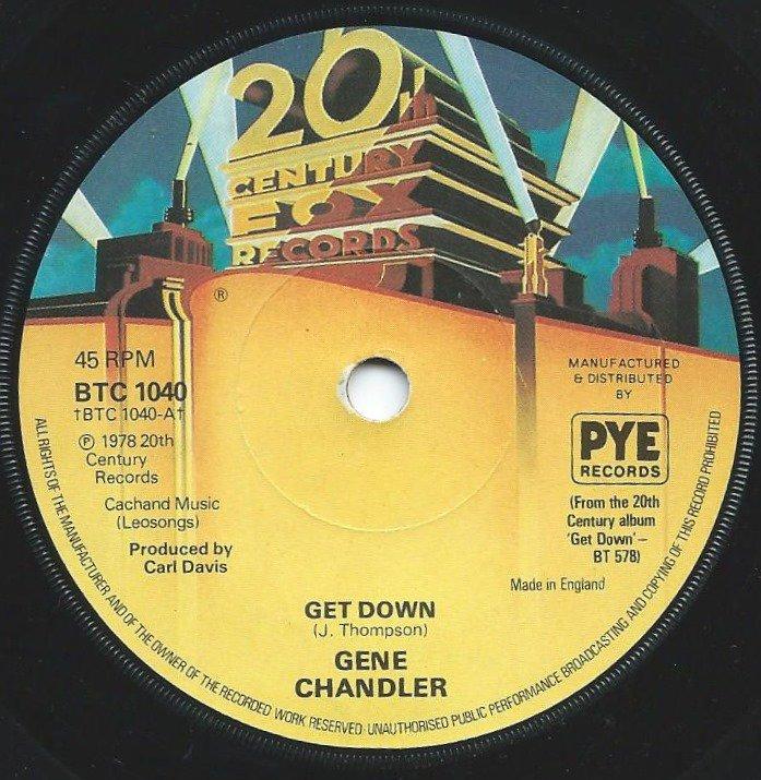 GENE CHANDLER / GET DOWN / GREATEST LOVE EVER KNOWN (7