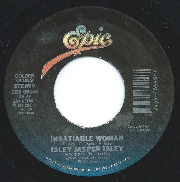 ISLEY JASPER ISLEY ‎/ INSATIABLE WOMAN / CARAVAN OF LOVE (7