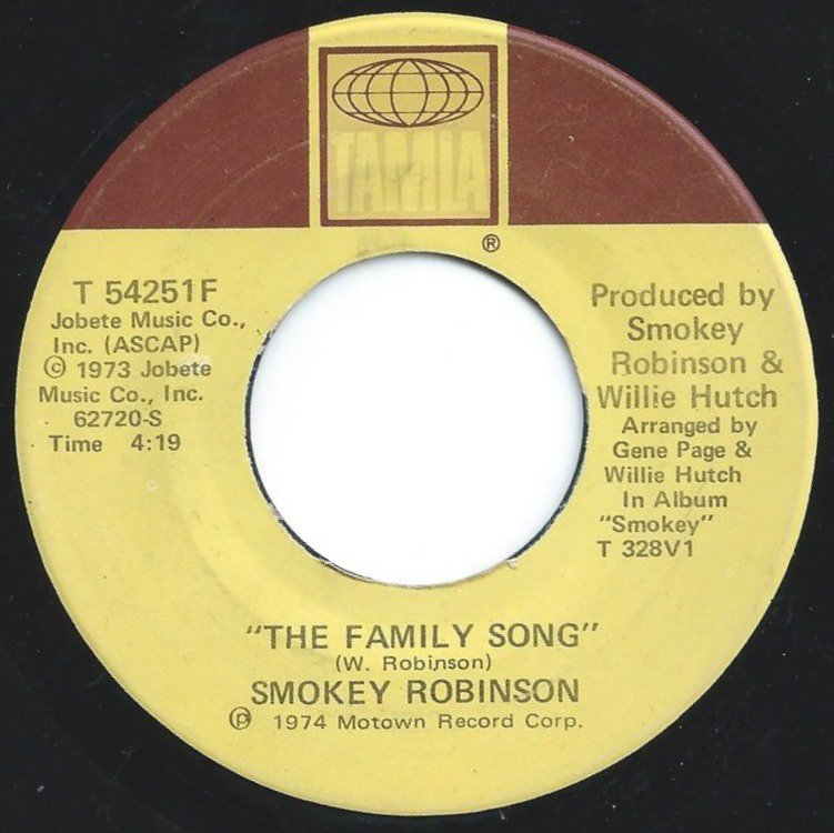 SMOKEY ROBINSON ‎/ I AM I AM / THE FAMILY SONG (7