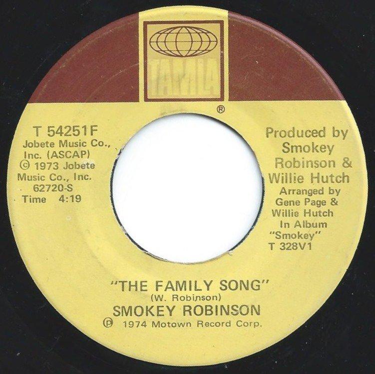 SMOKEY ROBINSON / I AM I AM / THE FAMILY SONG (7