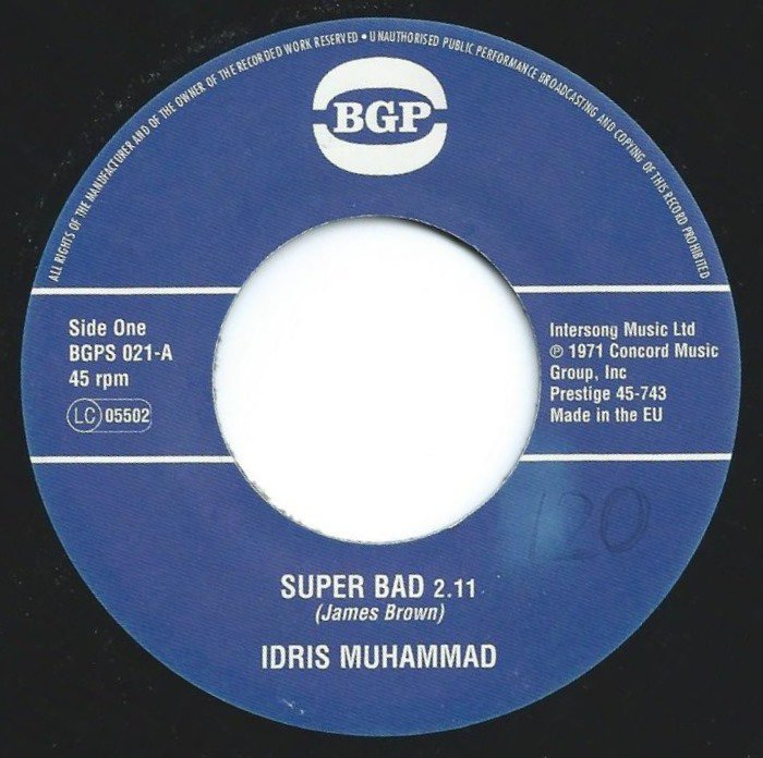 IDRIS MUHAMMAD / SUPER BAD / EXPRESS YOURSELF (7