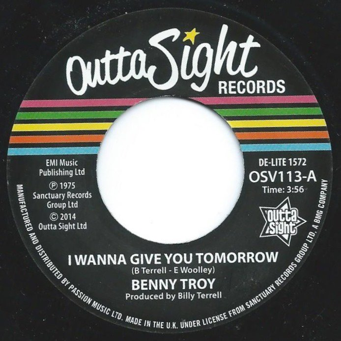 BENNY TROY ‎/ I WANNA GIVE YOU TOMORROW (7
