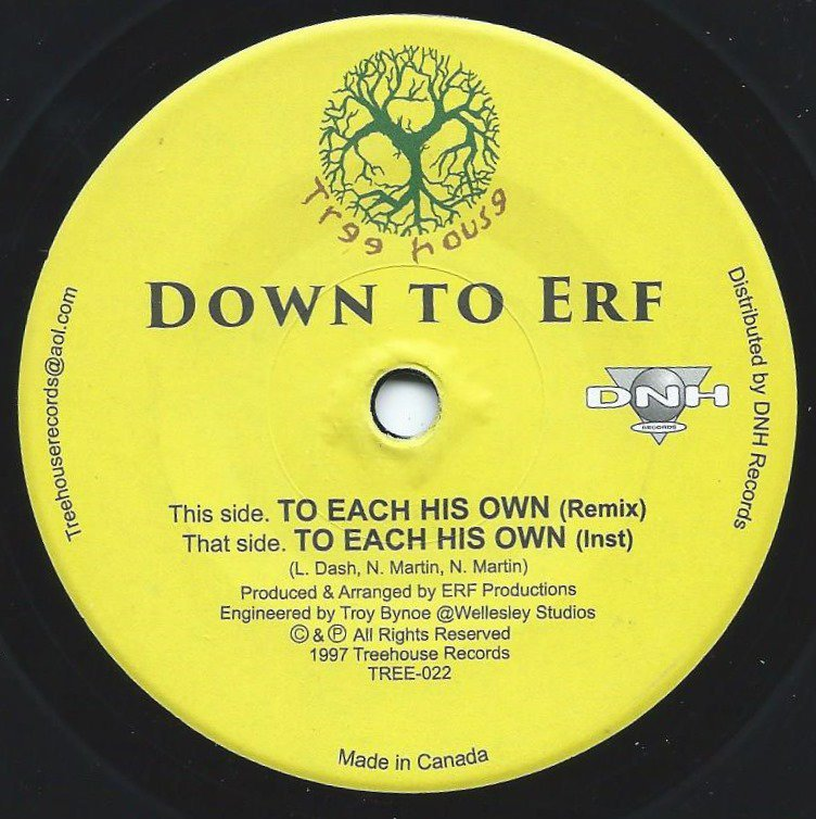 DOWN TO ERF ‎/ TO EACH HIS OWN REMIX (7