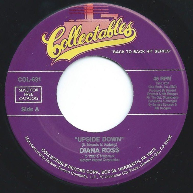 DIANA ROSS ‎/ UPSIDE DOWN / I'M COMING OUT (7