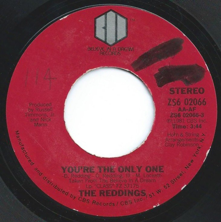 THE REDDINGS ‎/ YOU'RE THE ONLY ONE / COME IN OUT THE RAIN (7