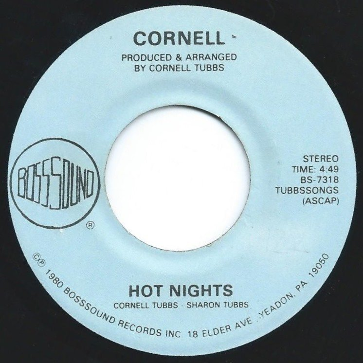 CORNELL ‎/ HOT NIGHTS / MOVE ON THE GROOVE (7