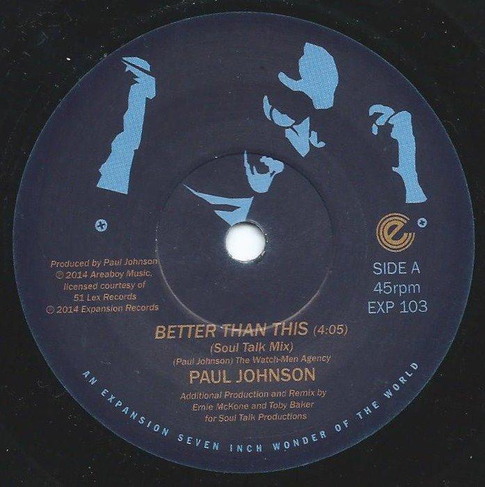 PAUL JOHNSON / BETTER THAN THIS (7