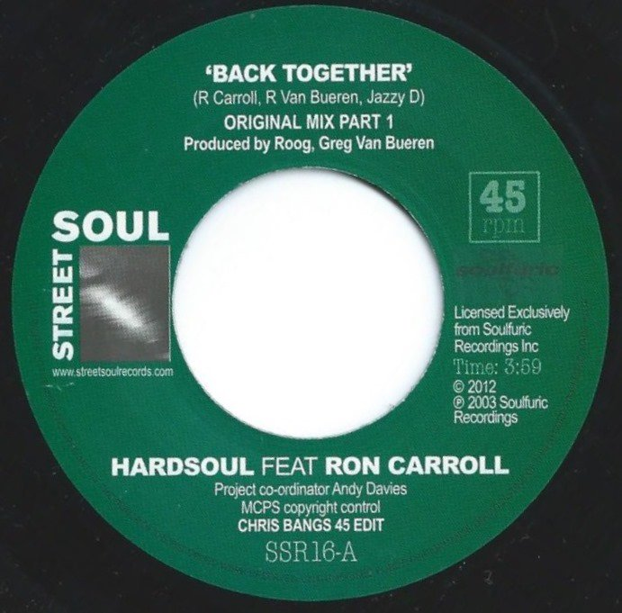HARDSOUL FEAT. RON CARROLL ‎/ BACK TOGETHER (7